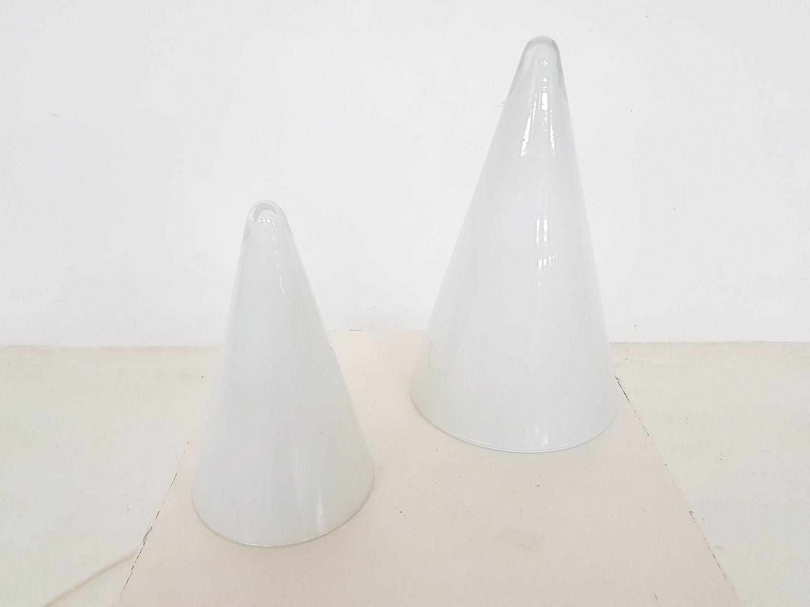 Teepee Tischleuchten aus Opalglas von SCE, 1970er, 2er Set
