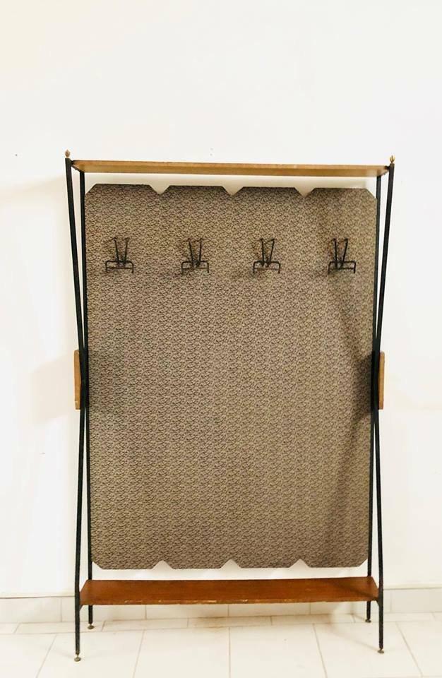 porte v tements vintage en m tal en bois italie 1950s. Black Bedroom Furniture Sets. Home Design Ideas