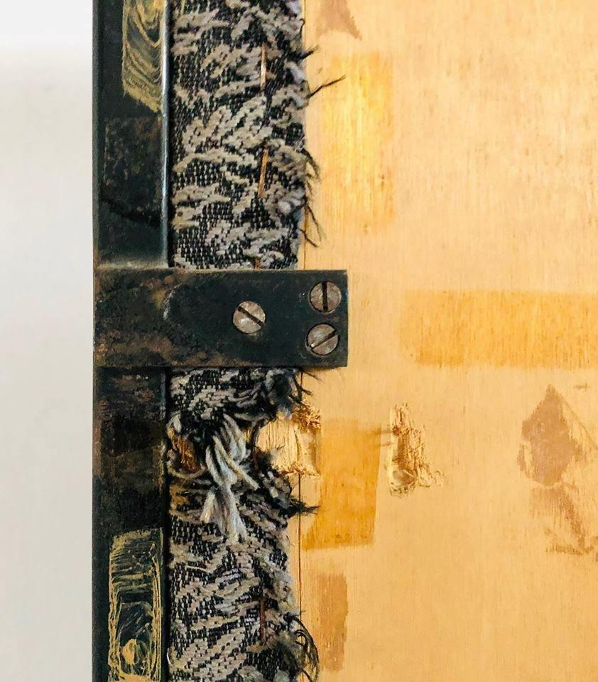 italienische vintage garderobe aus holz metall 1950er. Black Bedroom Furniture Sets. Home Design Ideas