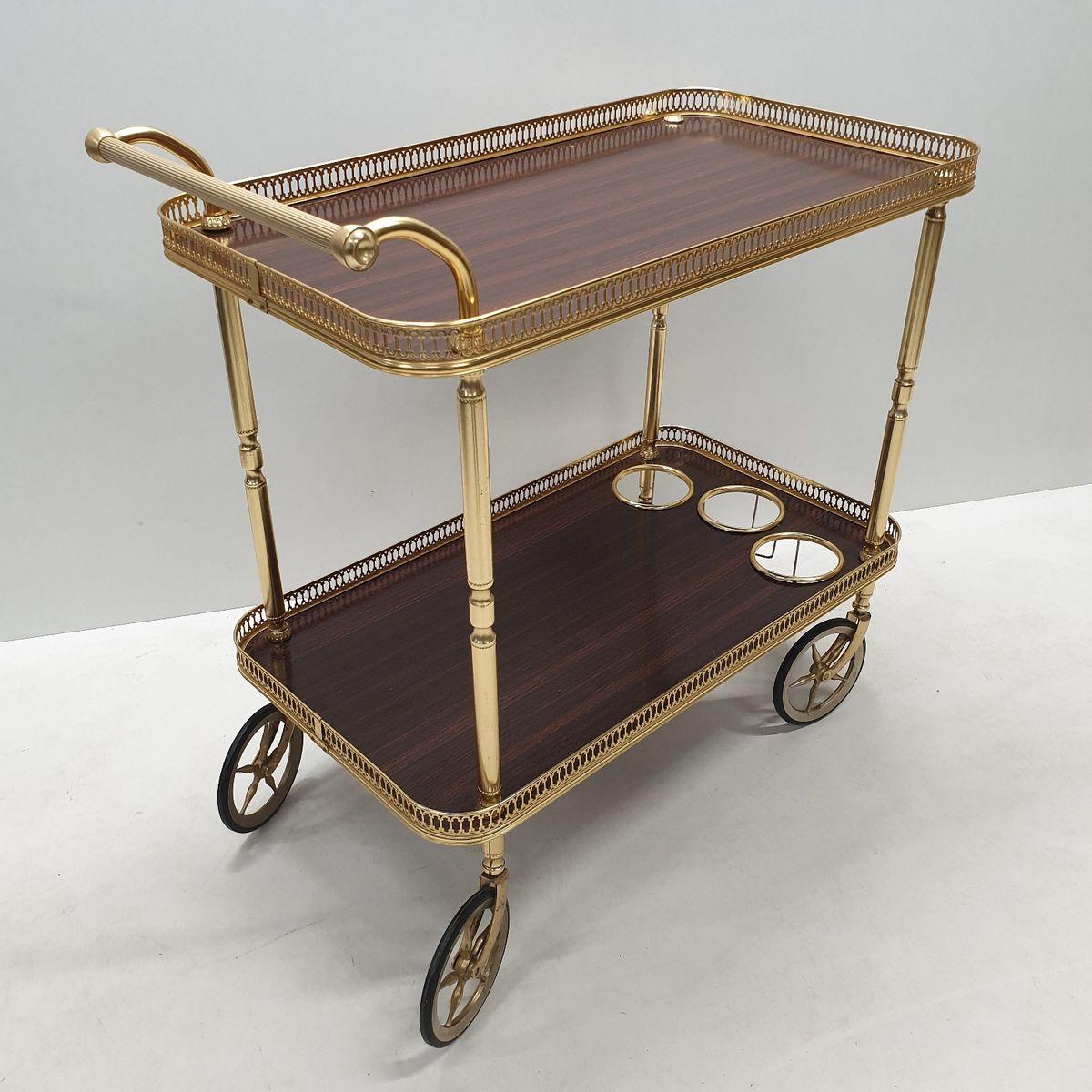 desserte style n o classique en laiton 1960s en vente sur pamono. Black Bedroom Furniture Sets. Home Design Ideas