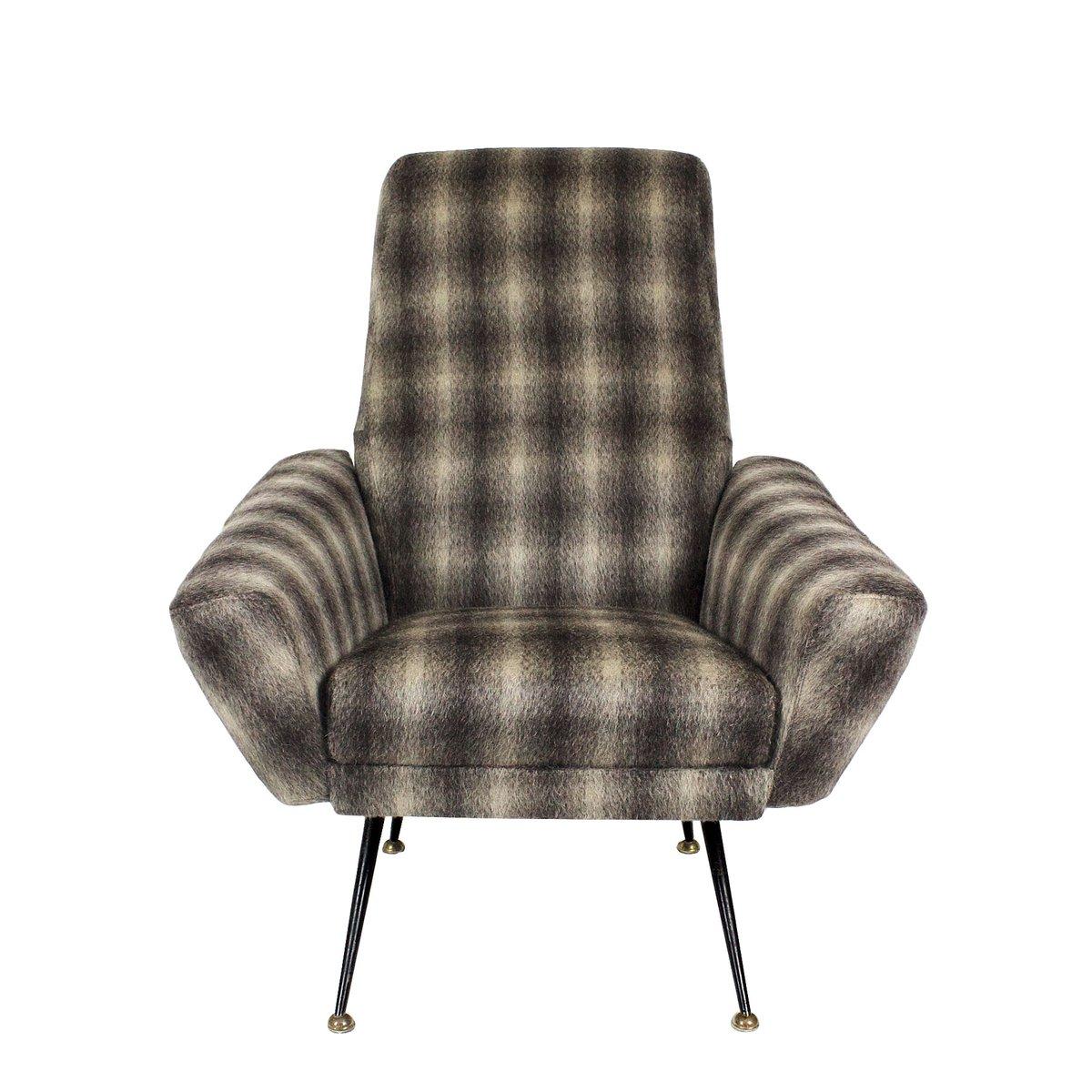 Italienische Sessel Mit Wollbezug 1950er 2er Set Bei