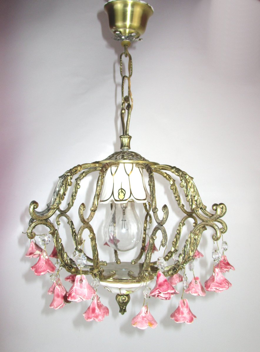 Spanische Mid-Century Deckenlampe, 1950er