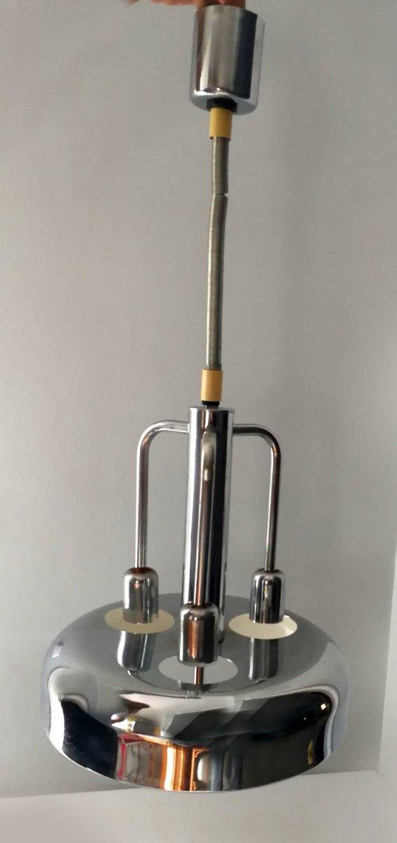 Verchromte Mid-Century Deckenlampe von Fratelli Giannelli, 1960er