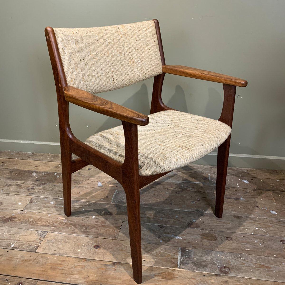 d nische esszimmerst hle mit armlehnen von erik buch 1960er 6er set bei pamono kaufen. Black Bedroom Furniture Sets. Home Design Ideas