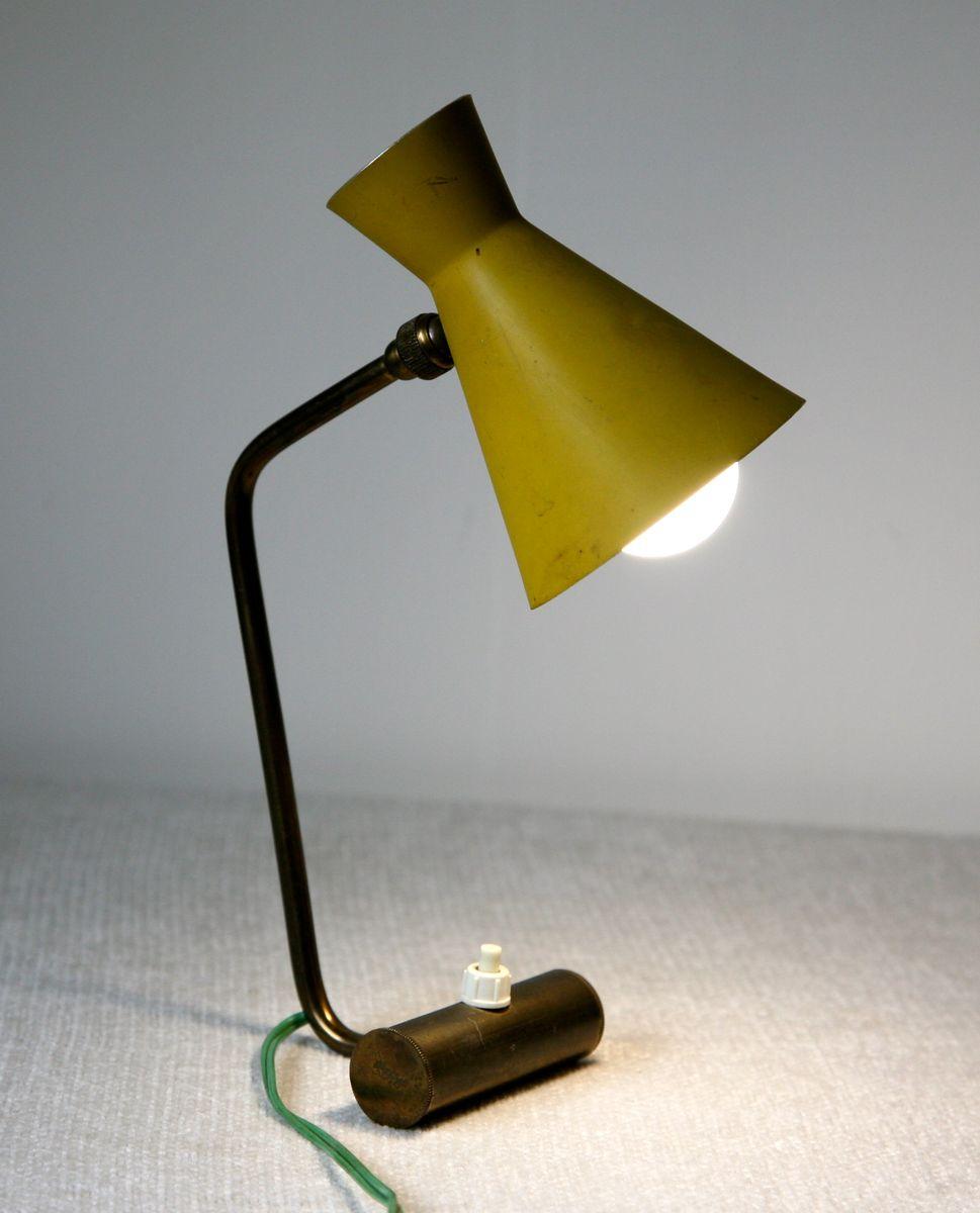 tischlampe mit verstellbarem diabolo schirm 1950er bei pamono kaufen. Black Bedroom Furniture Sets. Home Design Ideas