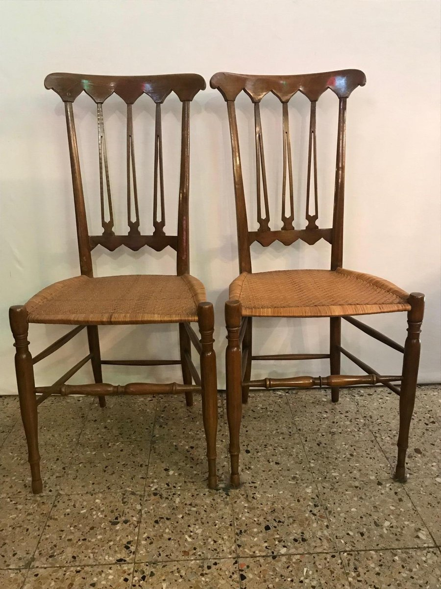 Mid Century Chiavari Chairs Set Of 2 For Sale At Pamono