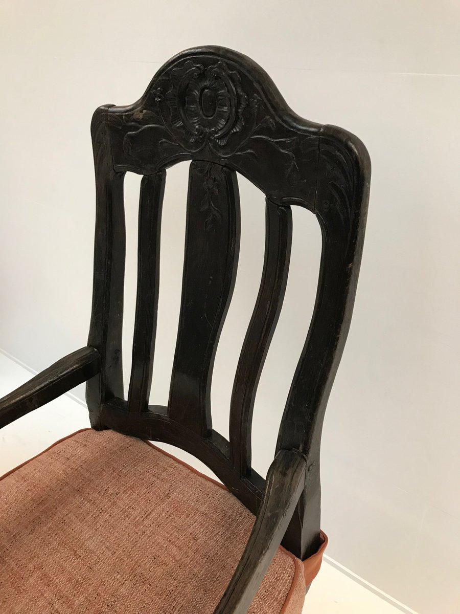 Antiker schwedischer Stuhl mit Kissen 1790er bei Pamono