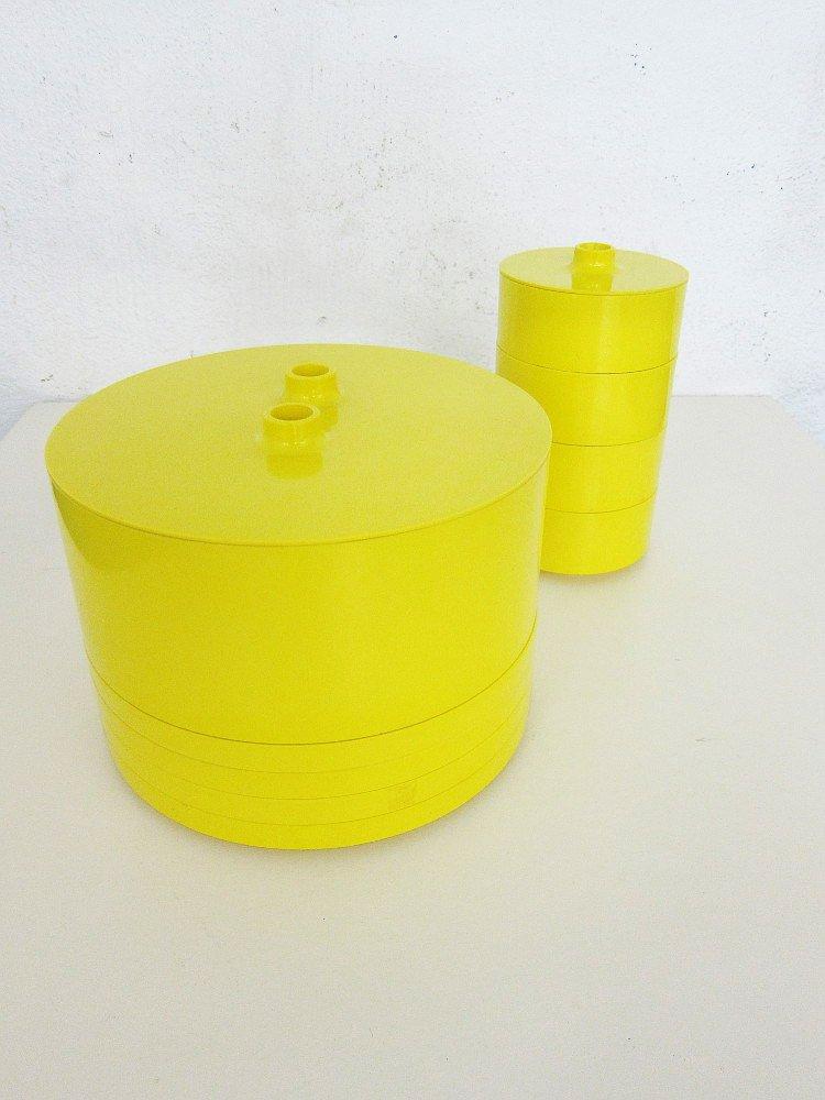 service vaisselle en plastique par massimo vignelli pour heller 1960s set de 13 en vente sur. Black Bedroom Furniture Sets. Home Design Ideas