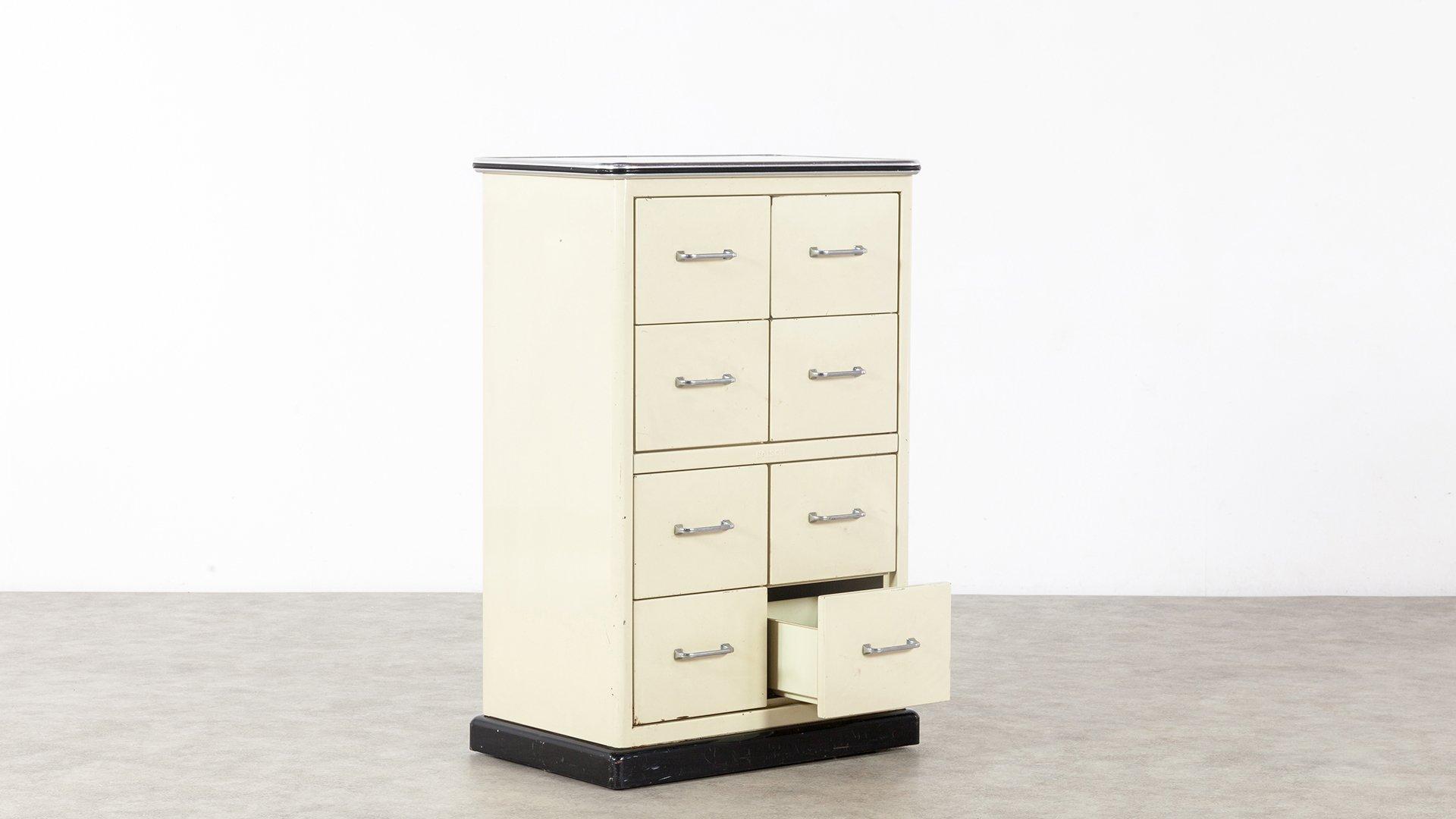 armoire pharmacie 8 tiroirs de baisch 1950s en vente sur pamono. Black Bedroom Furniture Sets. Home Design Ideas