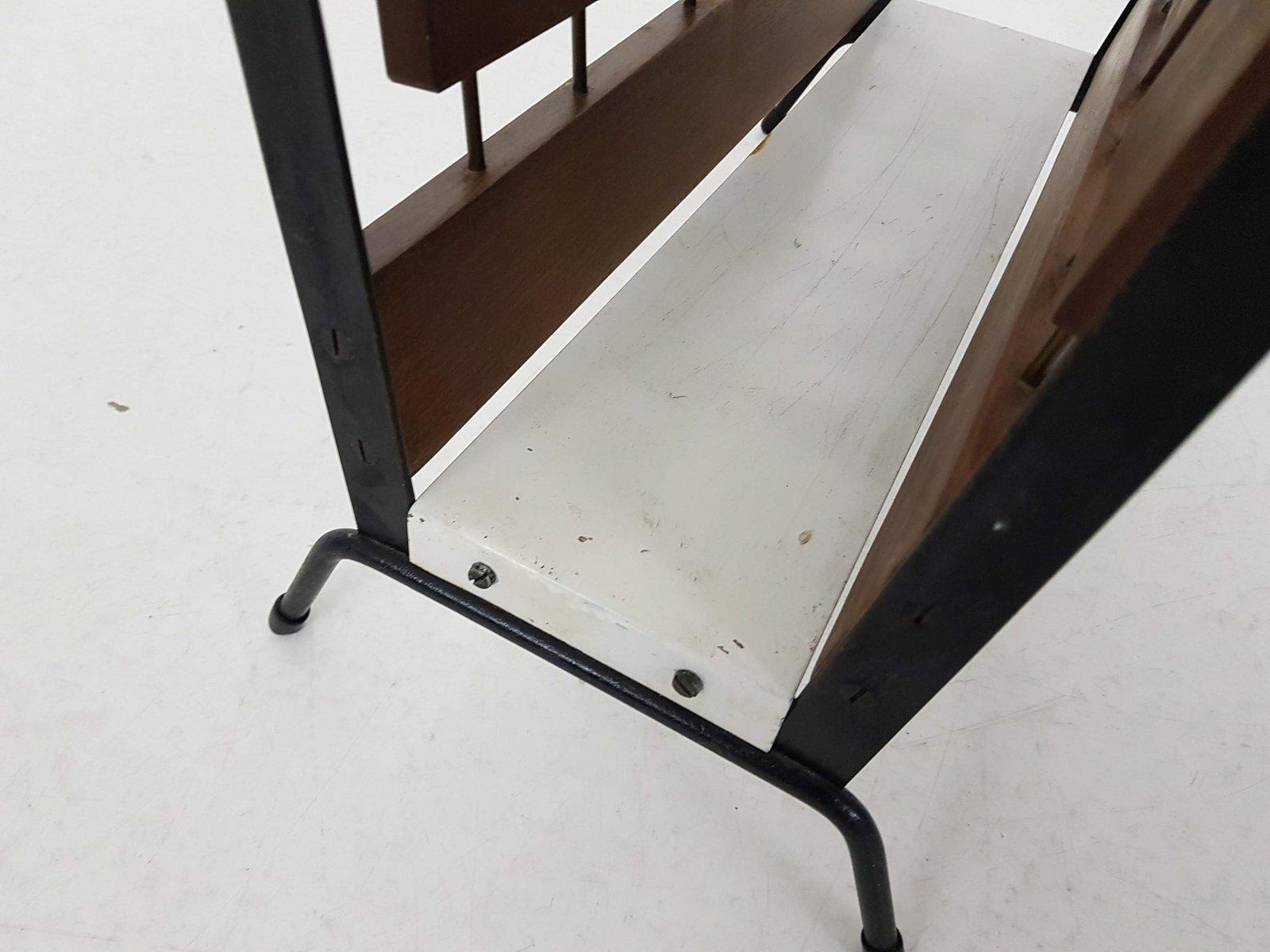 porte revues vintage en palissandre en m tal de brovorm en vente sur pamono. Black Bedroom Furniture Sets. Home Design Ideas