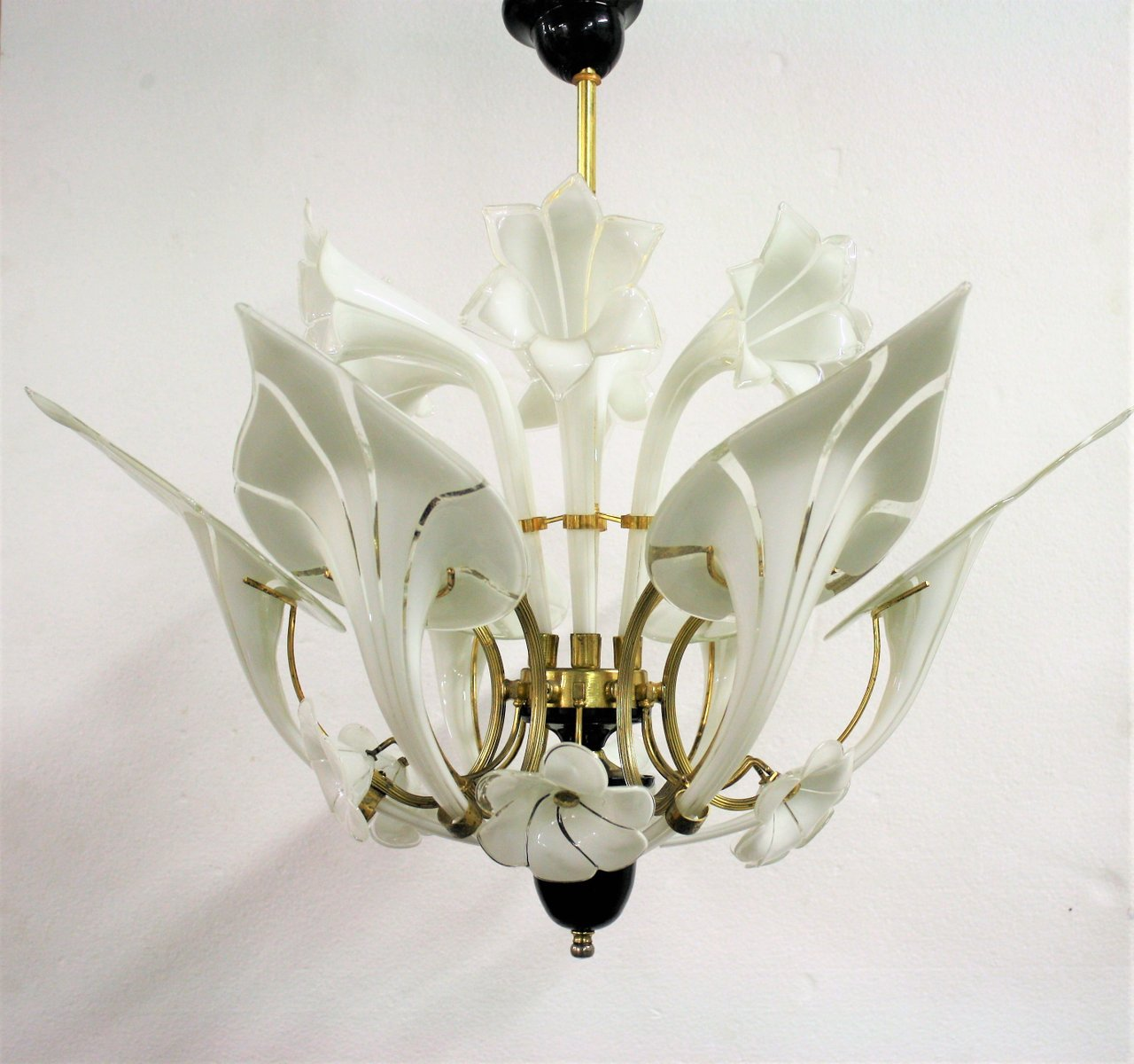 Murano Glass Flower Chandelier 1960s For Sale At Pamono