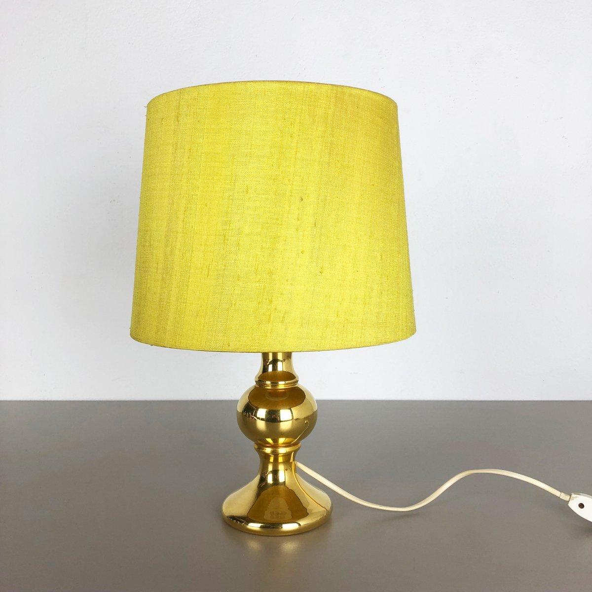 Goldene Tischlampe aus Glas von Uno & Östen Kristiansson für Luxus, 19...