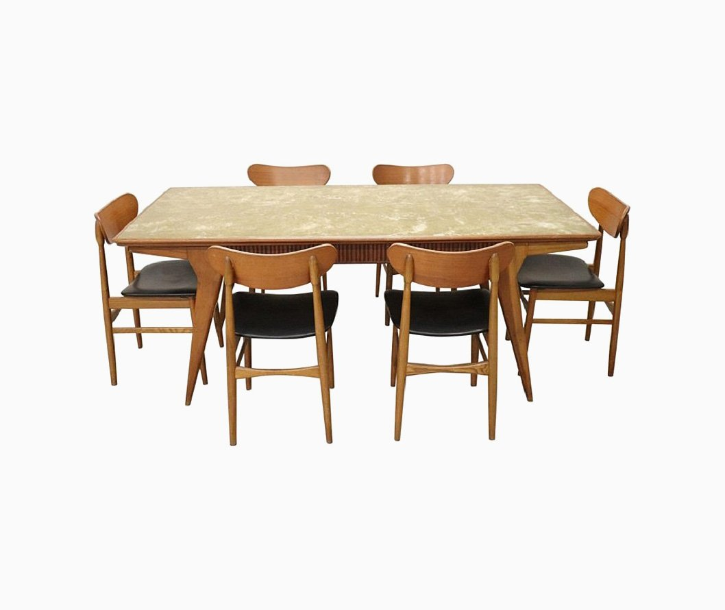 Danish Dining Room Set: Danish Dining Room Set, 1970s For Sale At Pamono