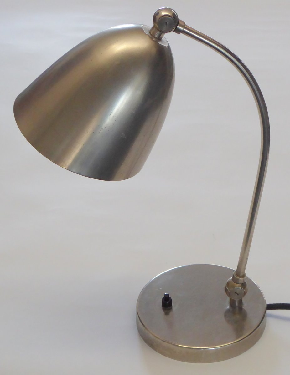 Bauhaus Table Lamp by Christian Dell for Le Phare, 1940s