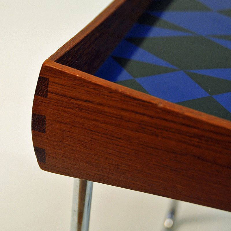 Enamel Tray Coffee Table: Conform Tray Table With Enamel Top By Hermann Bongard For