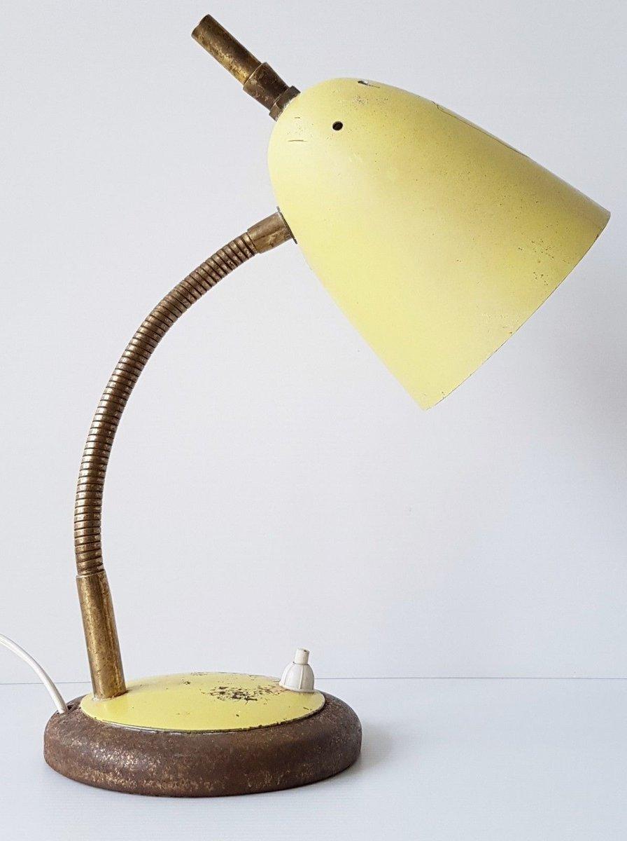 zazou tischlampe mit gelbem schirm 1950er bei pamono kaufen. Black Bedroom Furniture Sets. Home Design Ideas