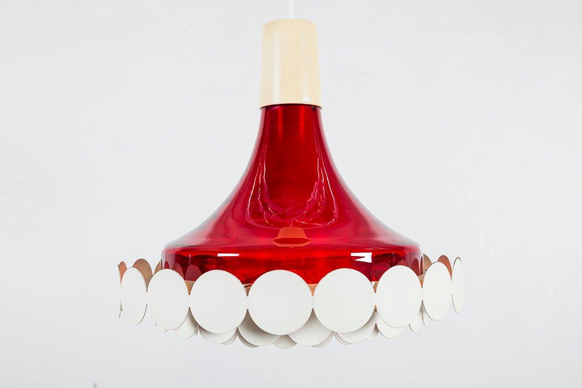 Vintage Hängelampe mit geometrischer Dekoration von Doria Leuchten, 19...