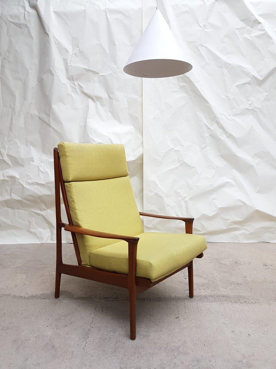 Mid-Century Sessel aus australischem Teak & Leinen, 1960er, 2er Set