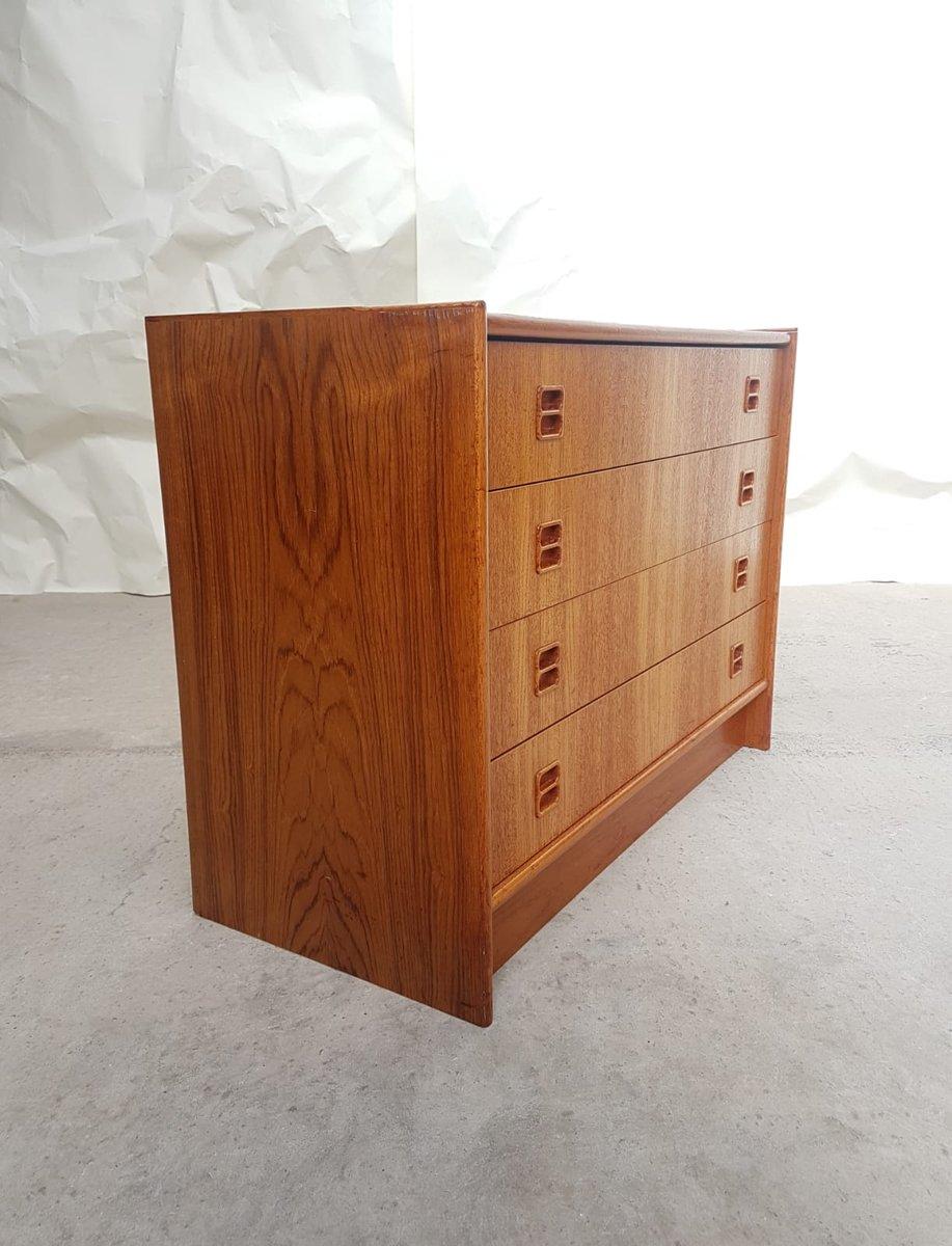 d nische mid century kommode aus teak 1970er bei pamono. Black Bedroom Furniture Sets. Home Design Ideas