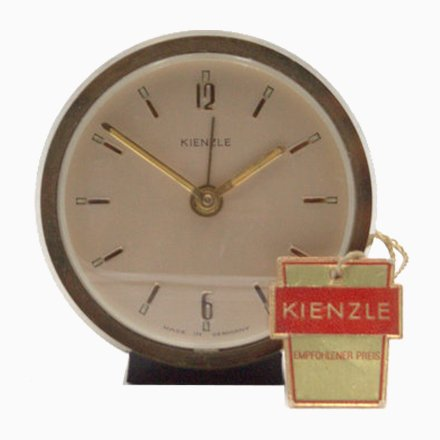 Mid-Century Industrial English Brass Ship Clock from F W