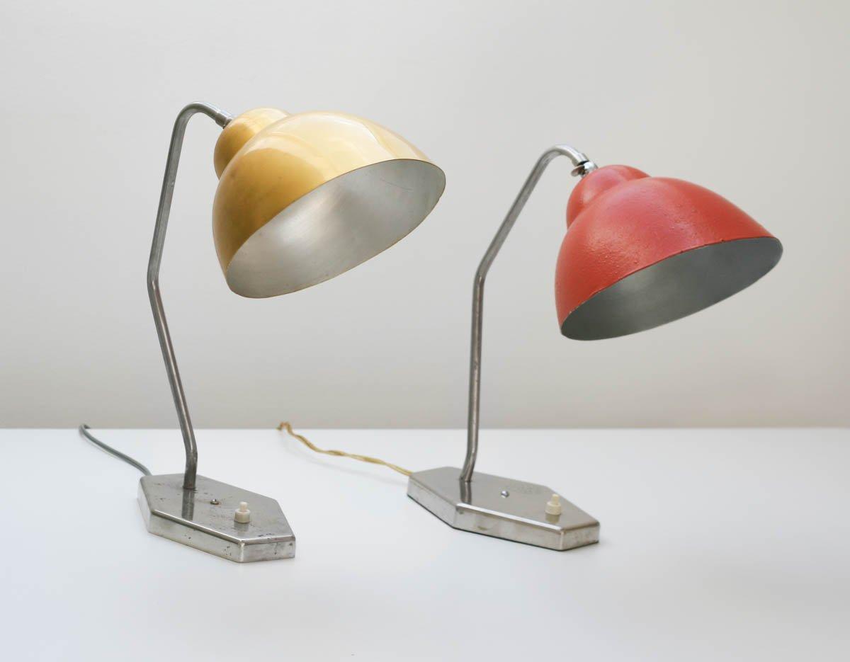mid century tischlampe mit goldenem schirm von inkop. Black Bedroom Furniture Sets. Home Design Ideas