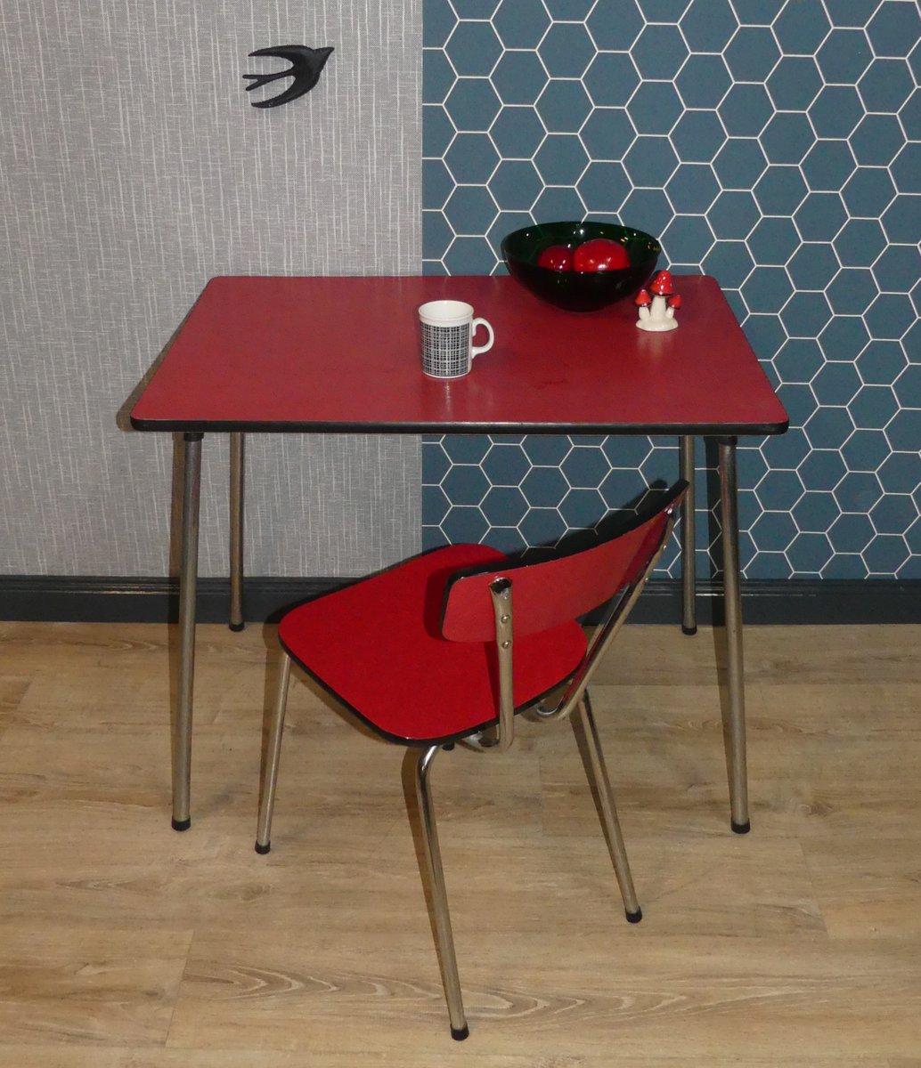 vintage chrome formica kitchen table 1950s for sale at. Black Bedroom Furniture Sets. Home Design Ideas