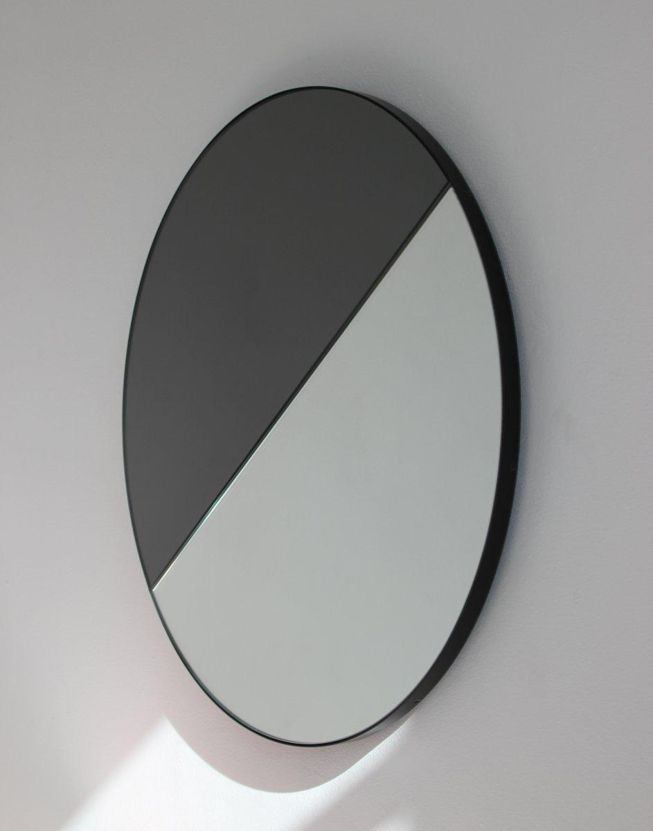 Miroir dualis orbis mixte rond avec cadre teint noir par alguacil perkoff ltd 2019 en vente for Miroir rond sans cadre