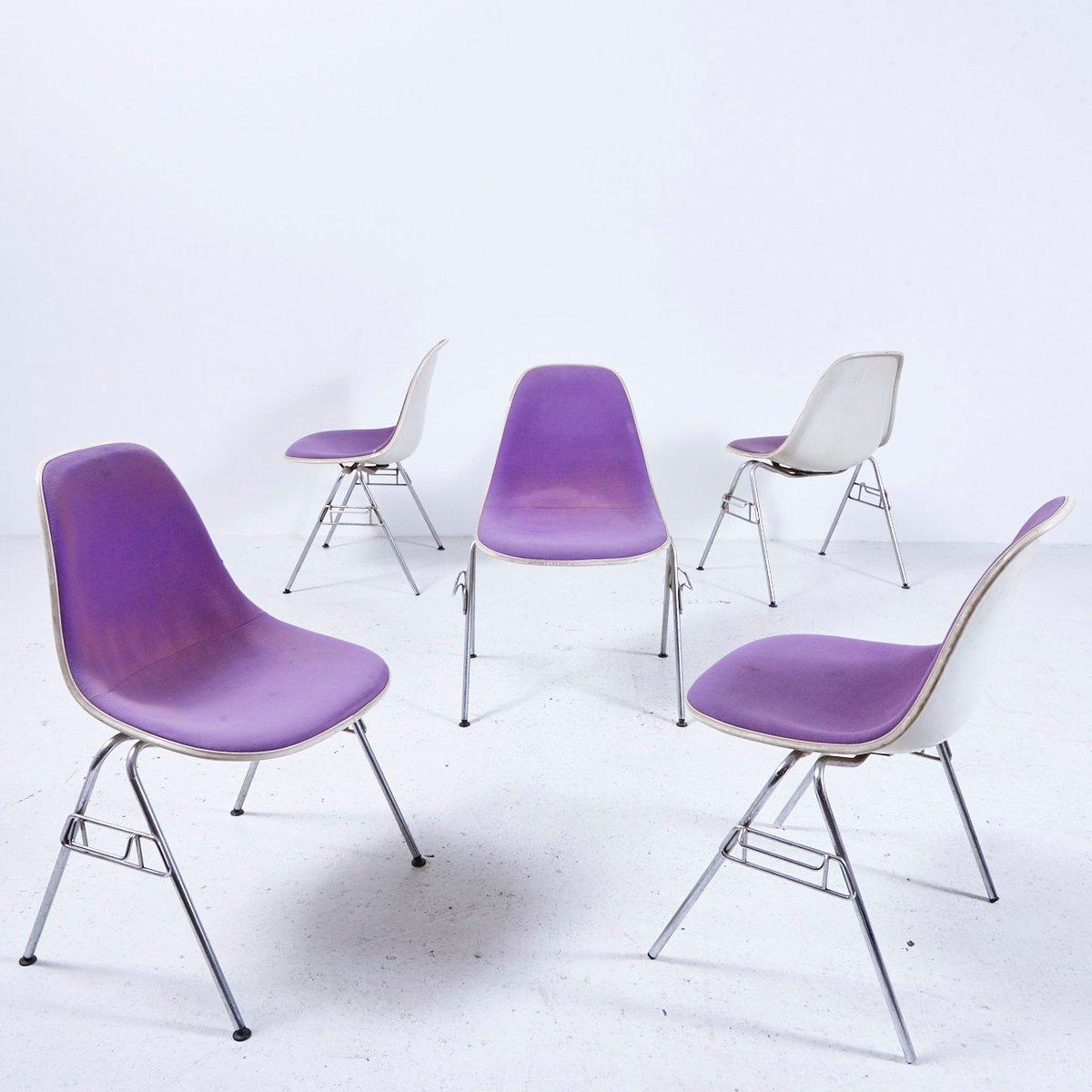 chaise empilable dss n en fibre de verre par charles ray eames pour herman miller etats unis. Black Bedroom Furniture Sets. Home Design Ideas