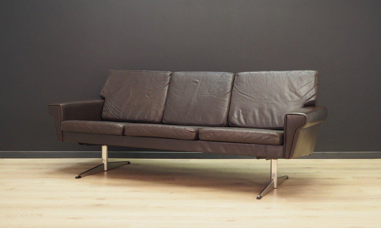 canap scandinave vintage en cuir en vente sur pamono. Black Bedroom Furniture Sets. Home Design Ideas