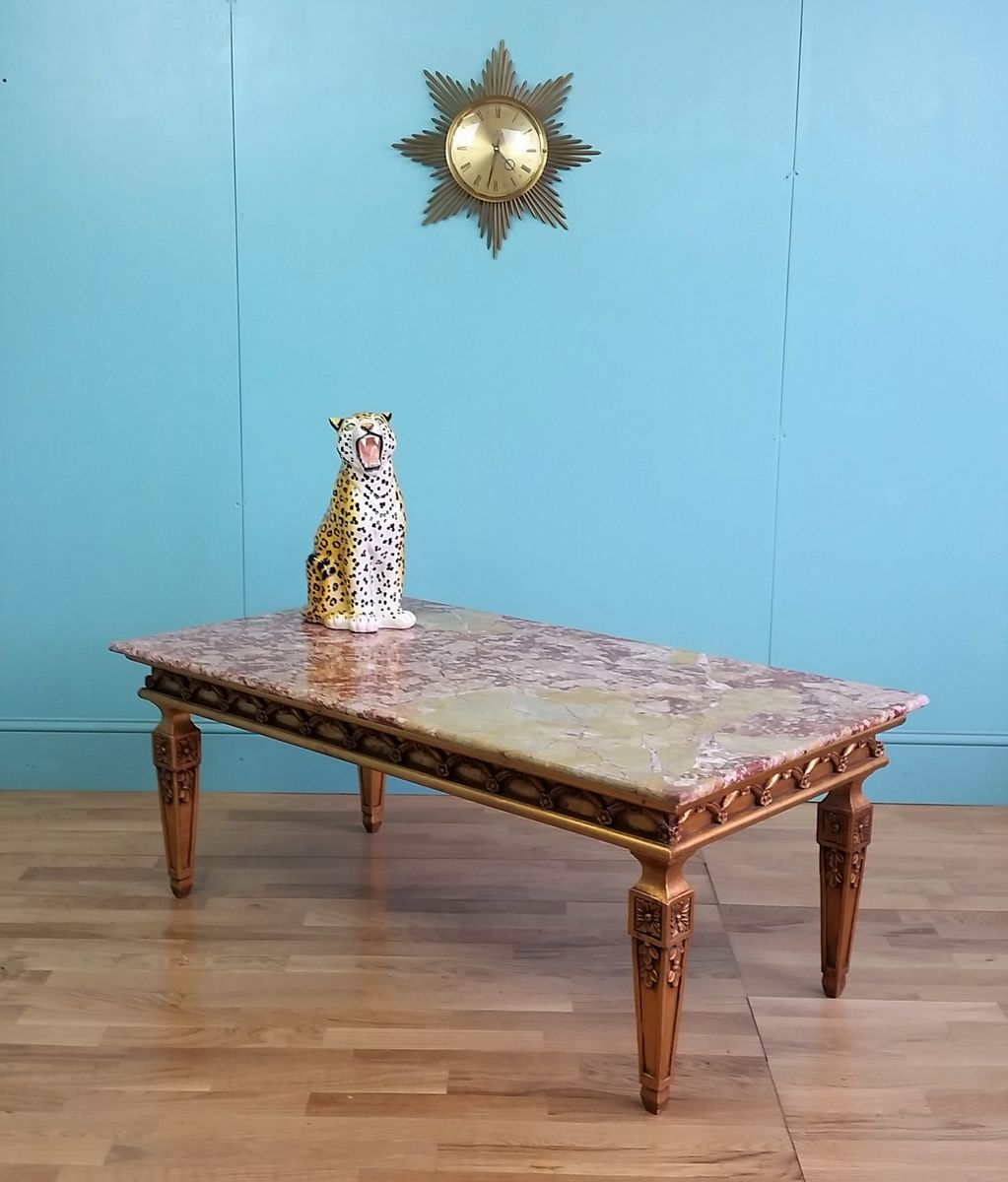 Marble Coffee Table For Sale Singapore: French Marble Top Coffee Table, 1960s For Sale At Pamono