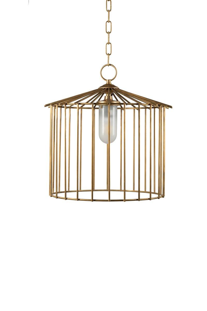 Kleine Cage Hängelampe für Außenbereich von Niccolo De Ruvo für Brass ...