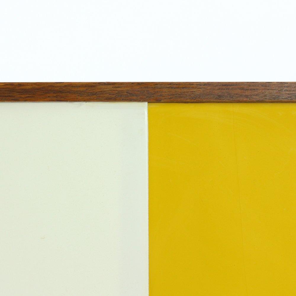 Credenza Mid-Century gialla e color crema di Jiri Jiroutek..