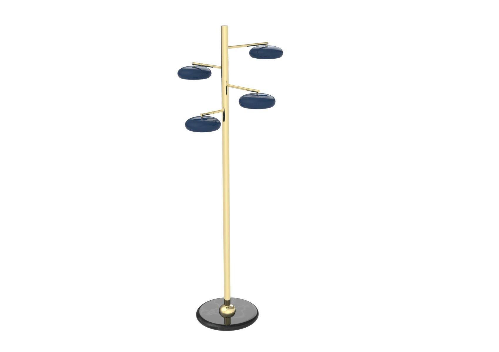 Gea Stehlampe mit 4 Leuchten von Michelangelo Moroni für Brass Brother...