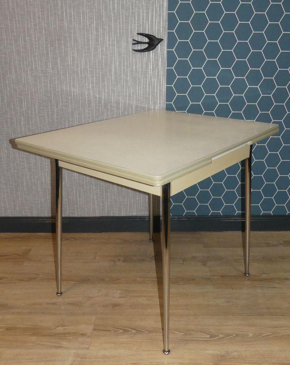 table de cuisine rallonge vintage en risopal 1950s en vente sur pamono. Black Bedroom Furniture Sets. Home Design Ideas
