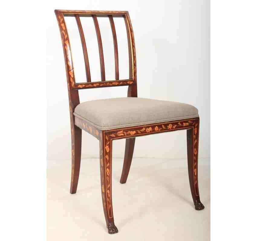 Niederländische Stühle Aus Mahagoni Mit Intarsien 1790er