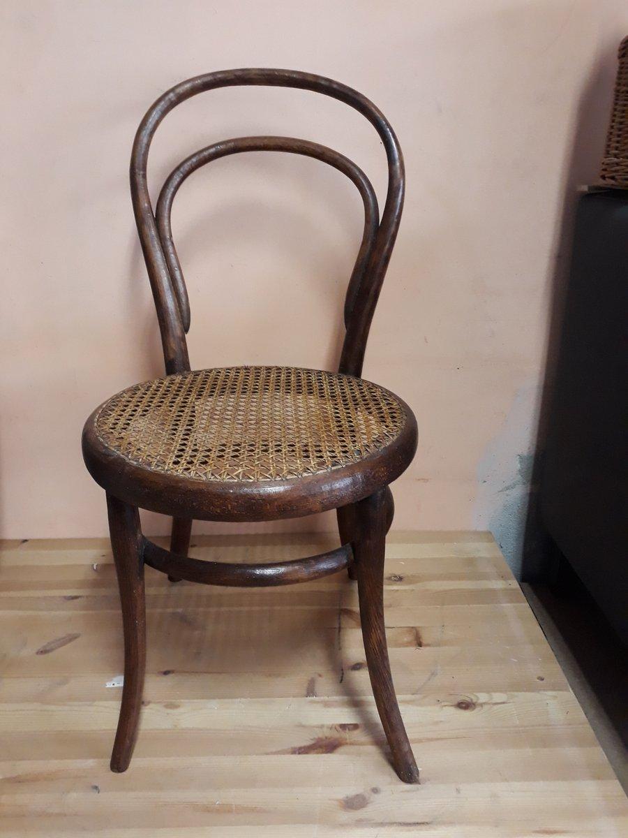 Niedriger antiker Nr 14 Stuhl von Thonet bei Pamono kaufen