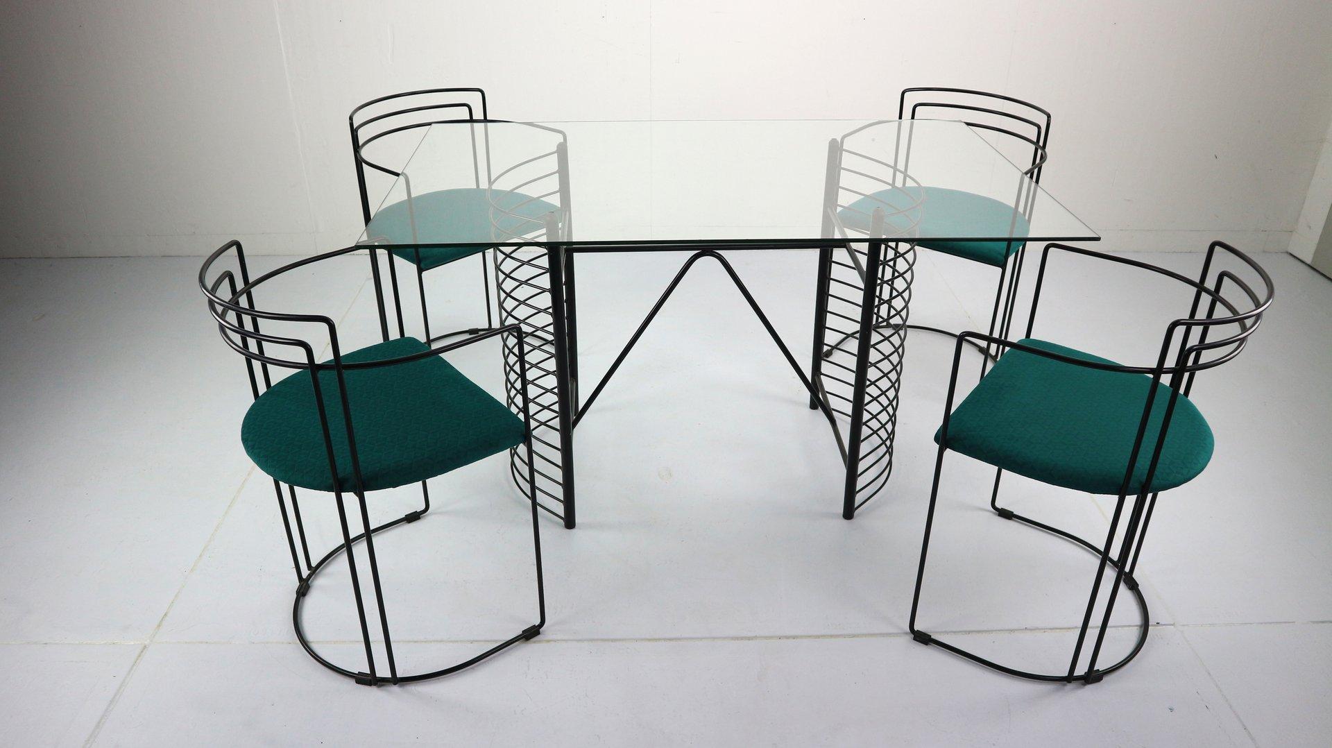 Minimalistische moderne Mid-Century Essgruppe, 1970er