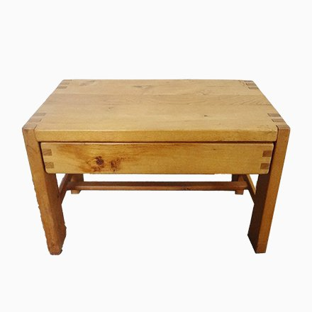 Vintage Coffee Table With Bar Compartment For At Pamono