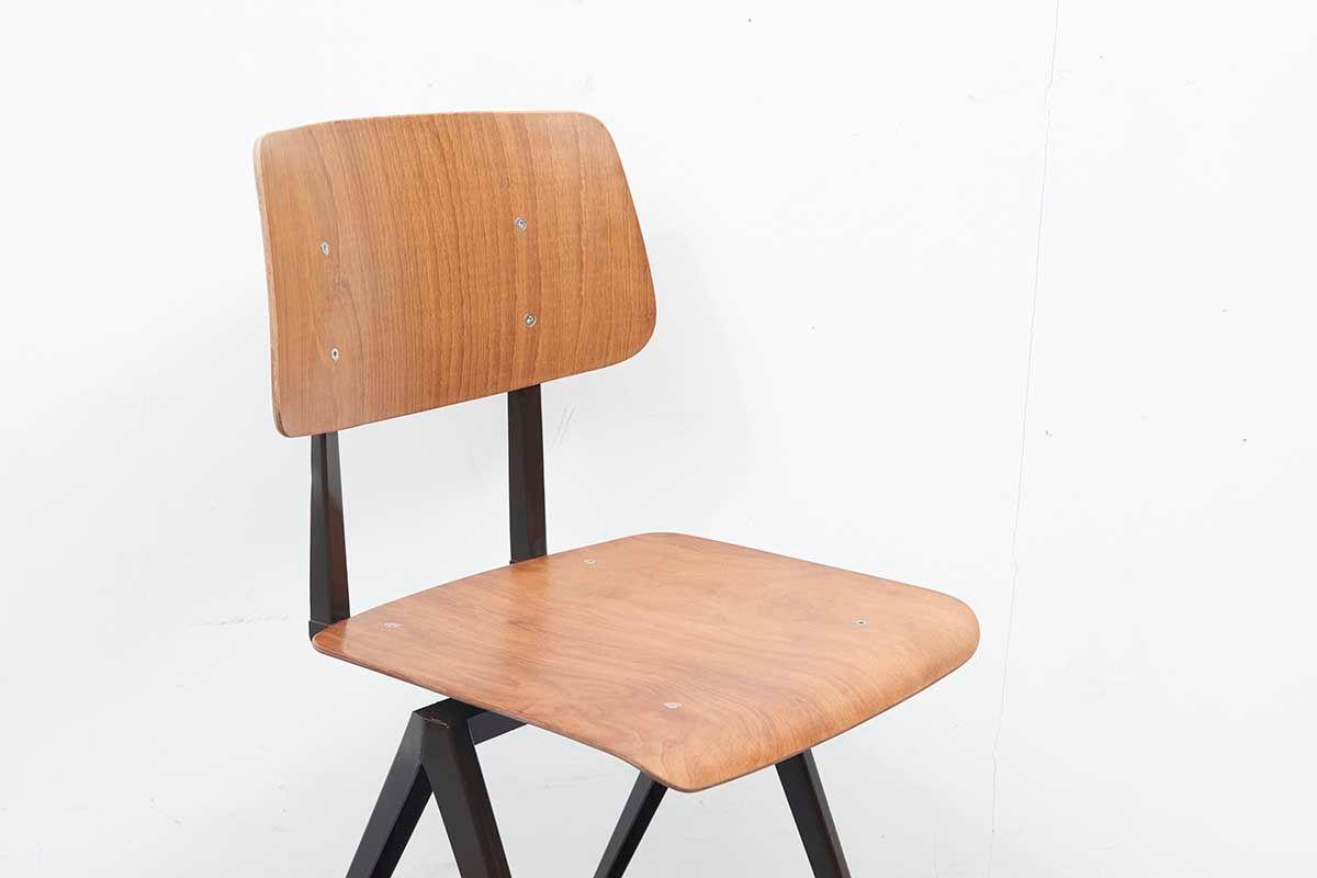 chaise s16 en ch ne de galvanitas 1960s en vente sur pamono. Black Bedroom Furniture Sets. Home Design Ideas