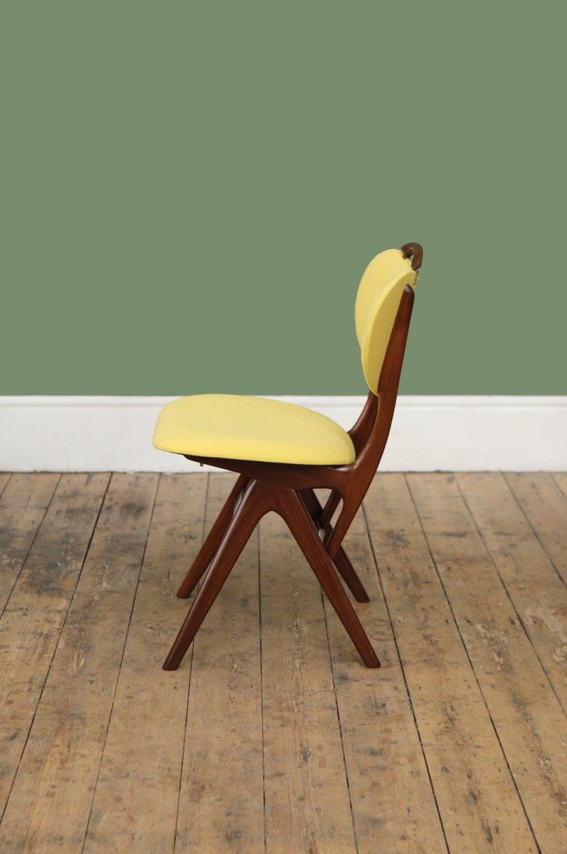 chaise d 39 appoint jaune mid century par louis van teeffelen pays bas 1950s en vente sur pamono. Black Bedroom Furniture Sets. Home Design Ideas