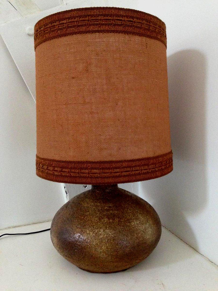 Sesame Vallauris Tischlampe aus Keramik, 1970er