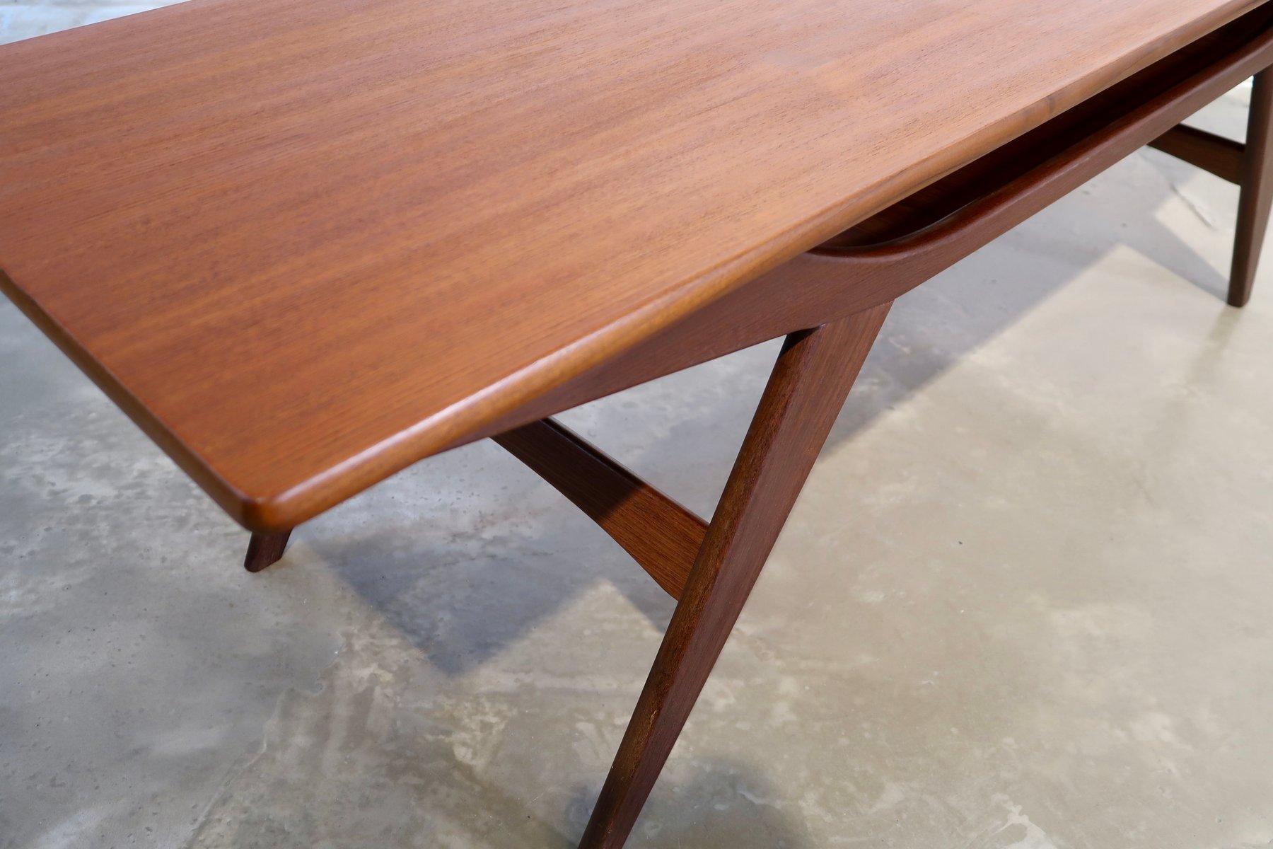 table basse en teck danemark 1960s en vente sur pamono. Black Bedroom Furniture Sets. Home Design Ideas