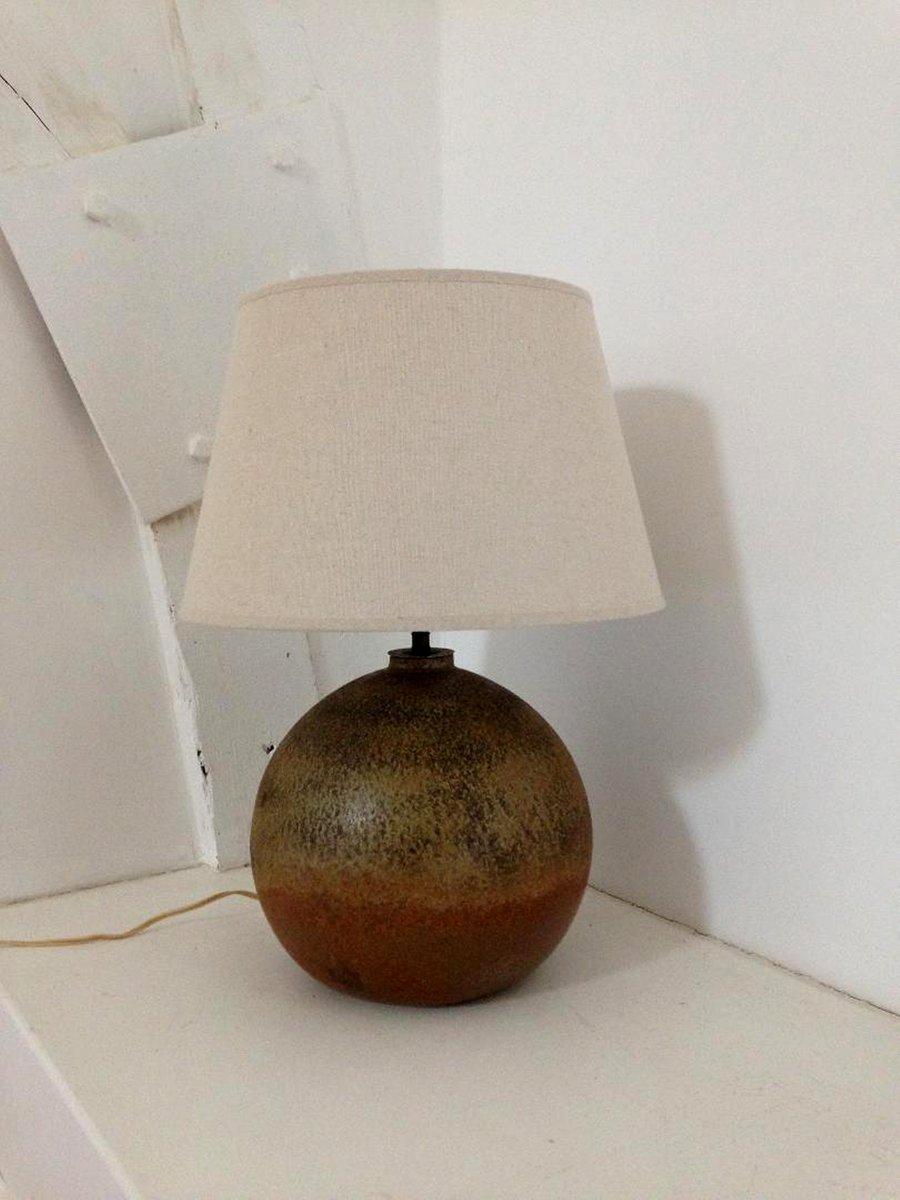 Französische Tischlampe aus Porzellan von Virebent, 1970er