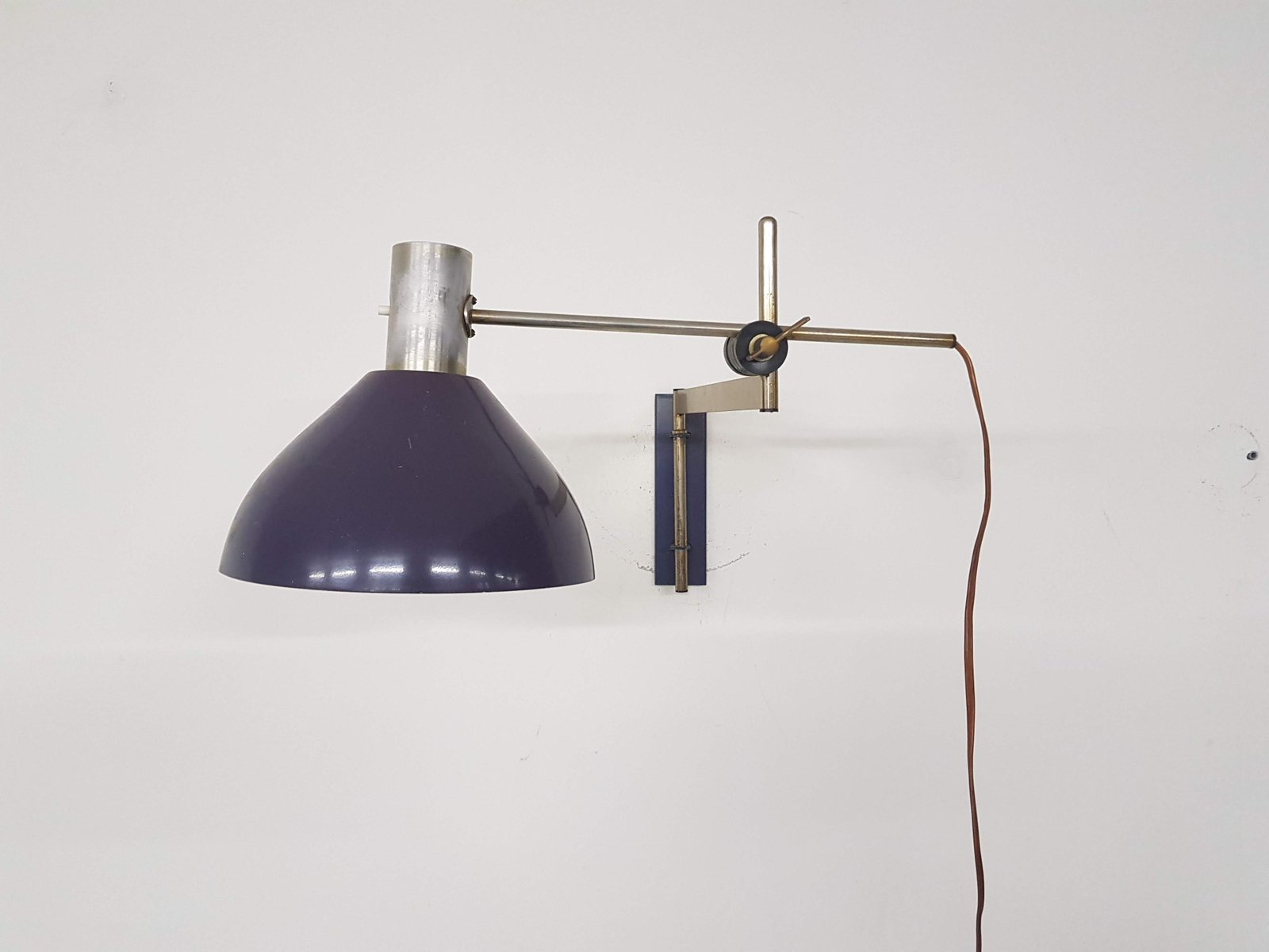 applique murale vintage violette de dijkstra 1960s en vente sur pamono. Black Bedroom Furniture Sets. Home Design Ideas