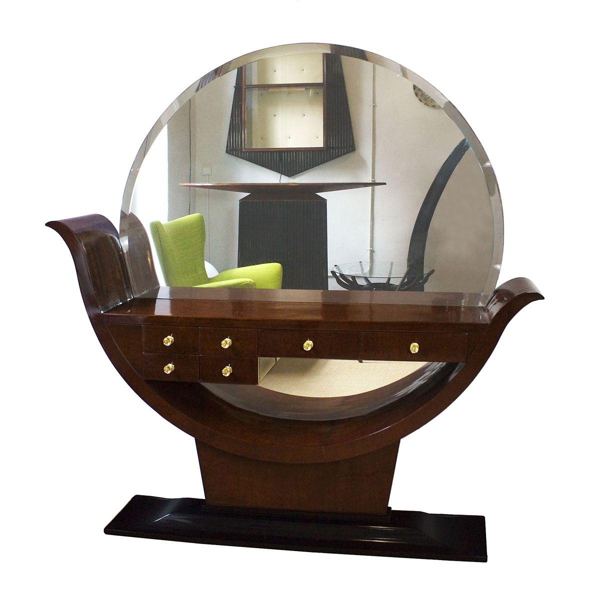spanischer art deco konsolentisch mit spiegel 1930er bei. Black Bedroom Furniture Sets. Home Design Ideas