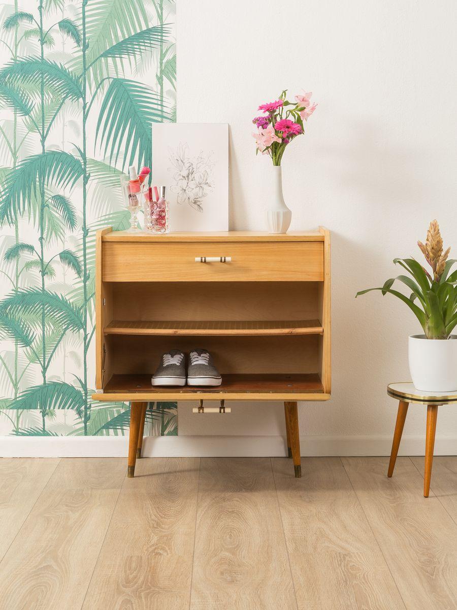petit meuble chaussures vintage 1950s en vente sur pamono. Black Bedroom Furniture Sets. Home Design Ideas