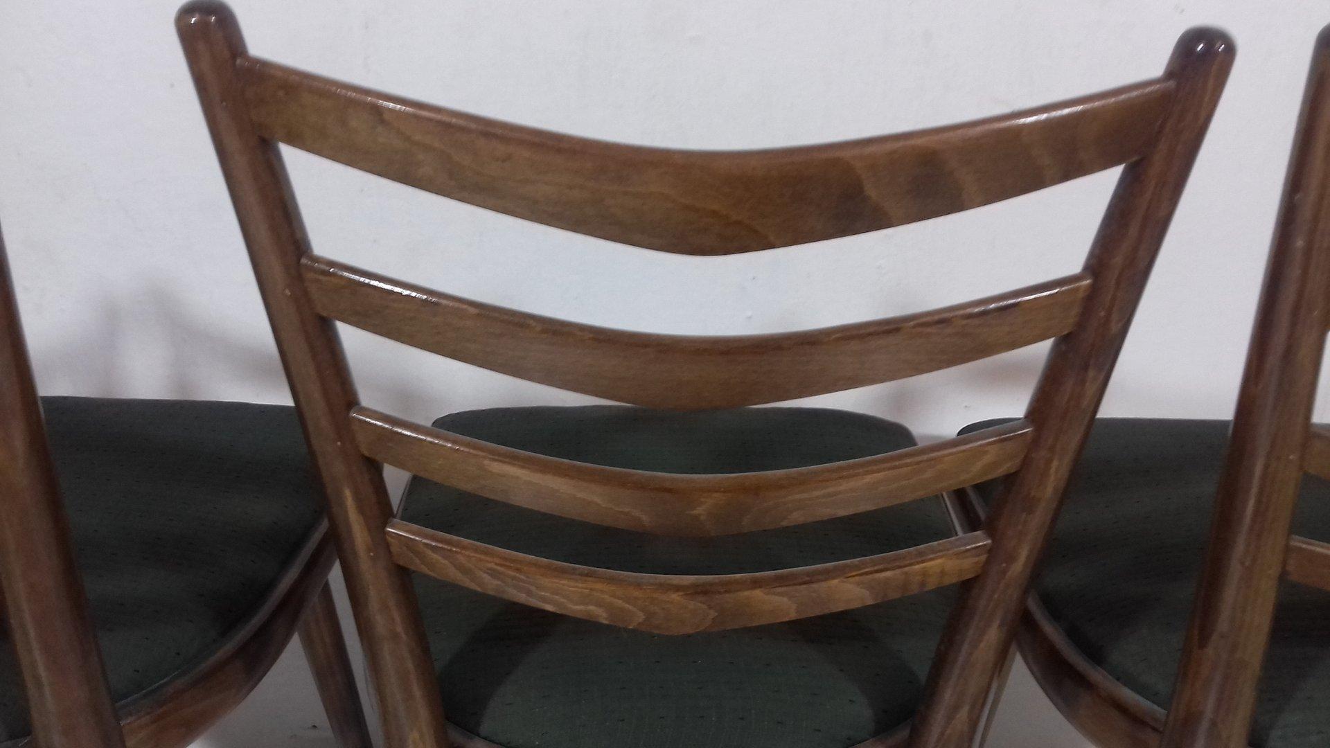 ausziehbarer tisch und 4 st hle von jind ich halabala. Black Bedroom Furniture Sets. Home Design Ideas