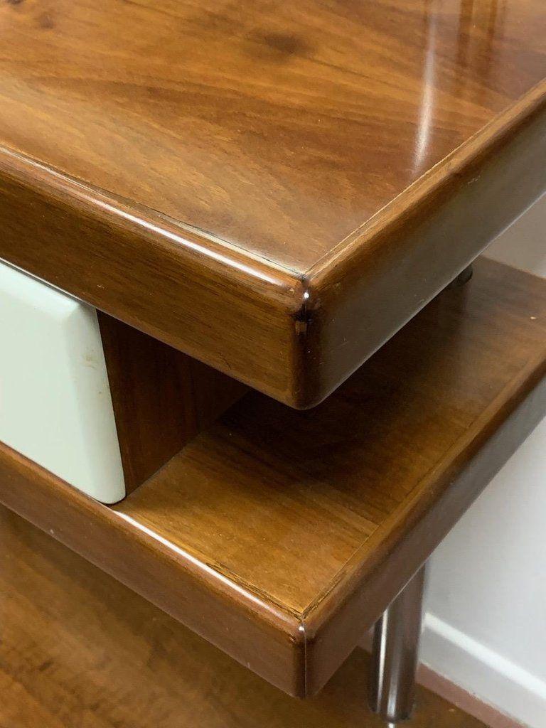 italienischer stummer diener aus chrom holz 1960er bei. Black Bedroom Furniture Sets. Home Design Ideas
