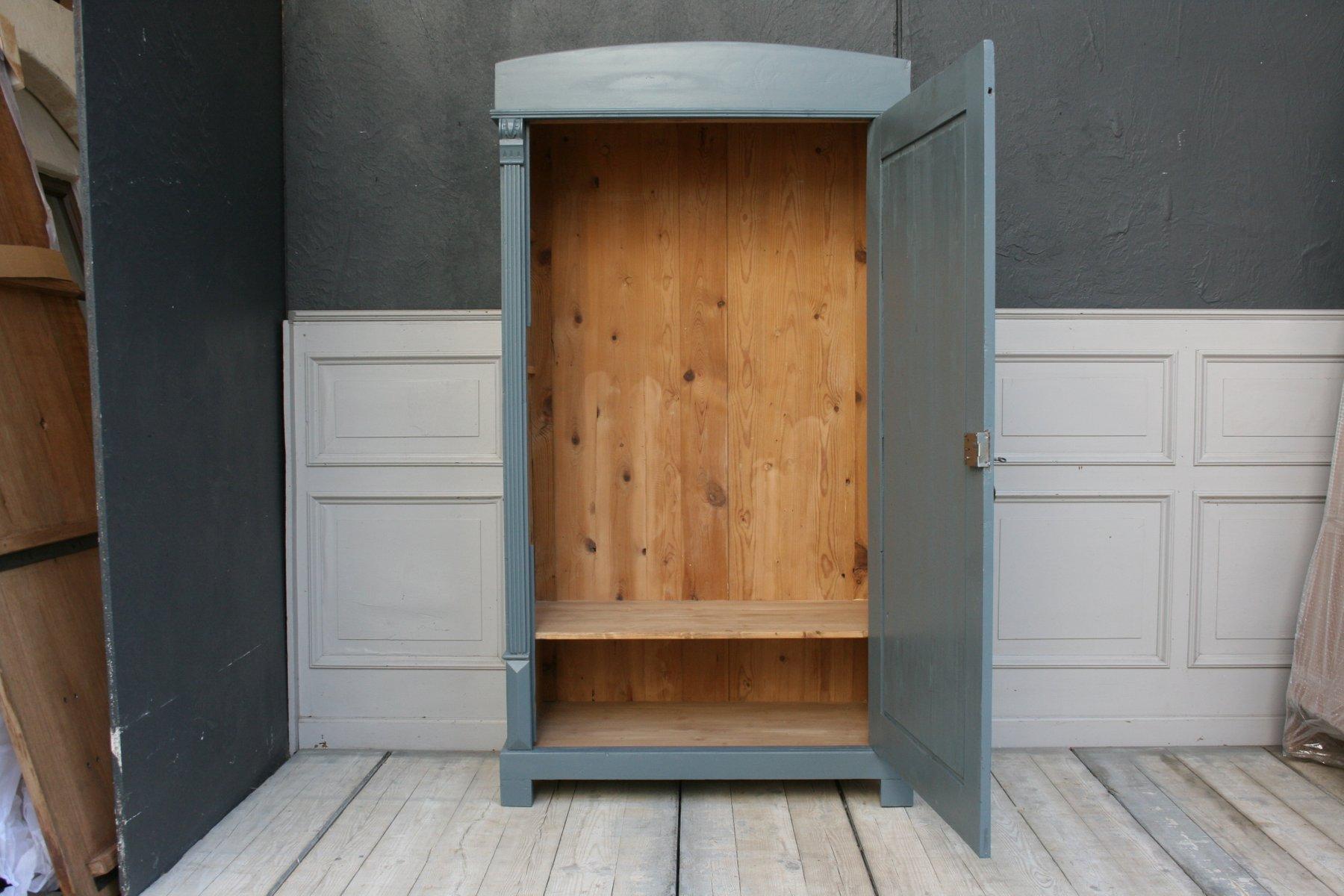 Meuble antique en bois tendre peint gris en vente sur pamono - Meuble peint en gris ...
