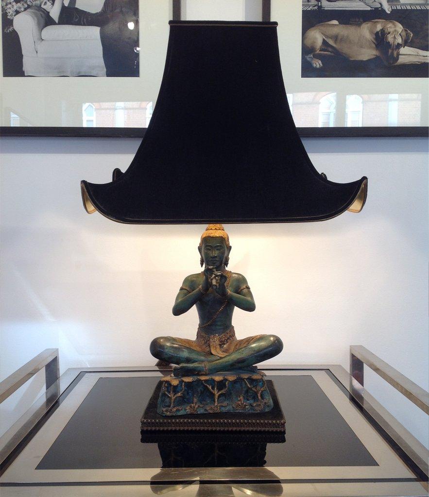 Französische Buddha Lampe, 1970er